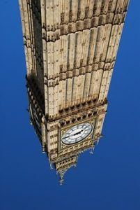 Big Ben upside-down
